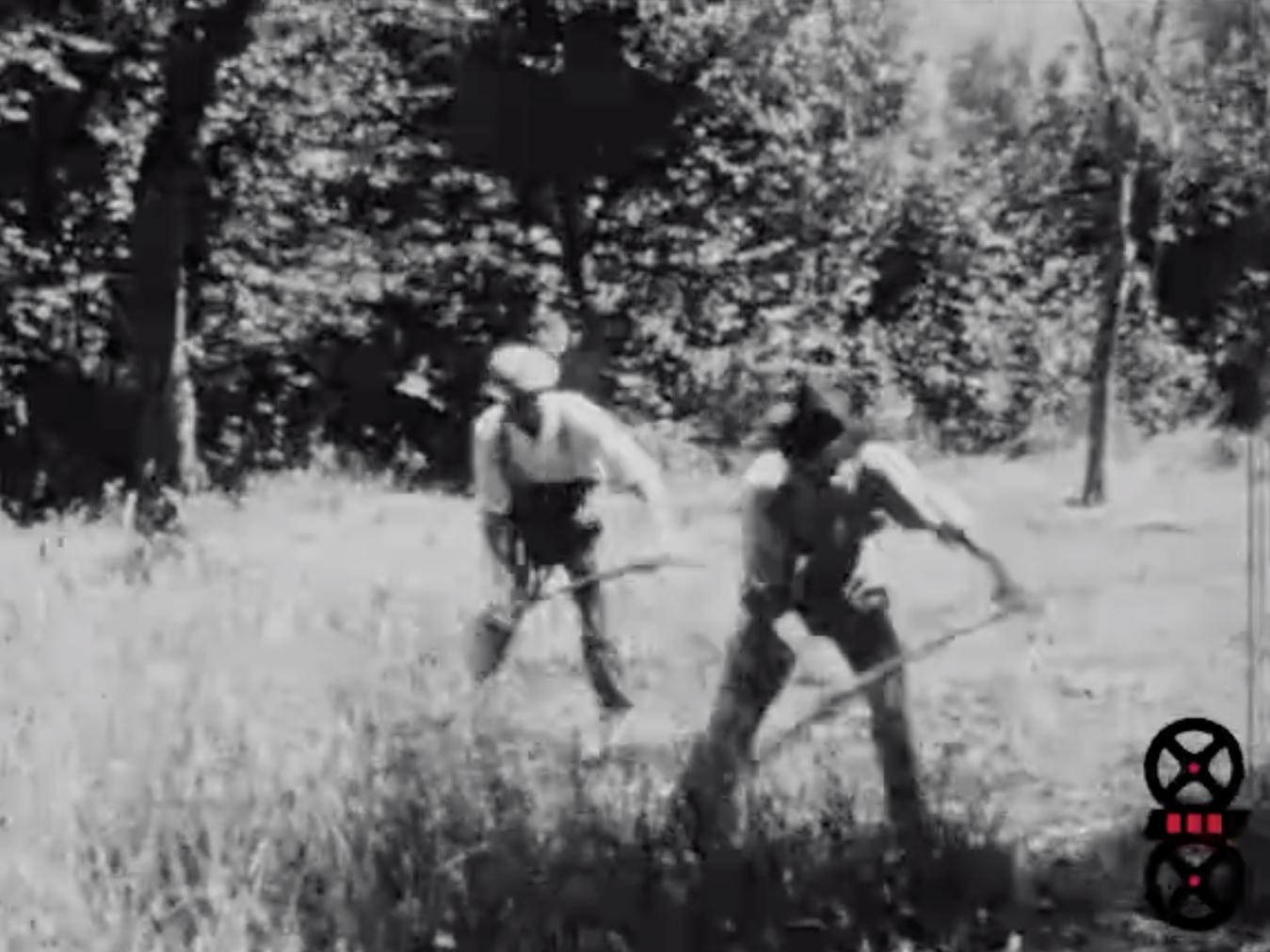 Faucheurs et enfants, juillet 1928